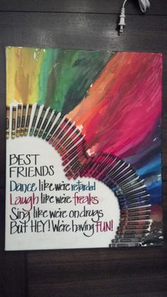 7 handmade best friend gift ideas gift craft and bff melted crayon art did myself whatcha think solutioingenieria Images