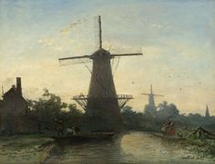 Molens bij Rotterdam, Johan Barthold Jongkind, 1857