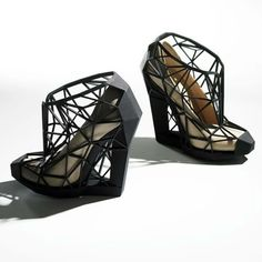 8d152152c High Tech to High Fashion: Upscale 3D-Printed Designs Printed Shoes, Weird  Shoes