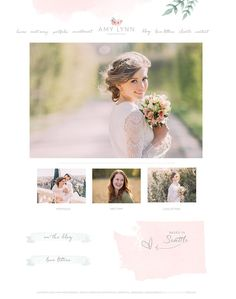 $65 Wix Website design website template by SunnyBlossomDesigns on Etsy #photography #webdesign #prettytemplate #weddingphotographywebsite #photoblogdesign #prettydesign #photographybranding website template, photography branding, photography web design, photography blog, wedding photography web design,