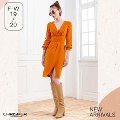 Ανάδειξε την θηλυκότητα σου με αυτό το κρουαζέ φόρεμα σε ύφασμα κρεπ. Απόκτησε το τώρα! Κωδικός: 52304 Wrap Dress, Dresses, Fashion, Vestidos, Moda, Fashion Styles, Dress, Fashion Illustrations, Gown