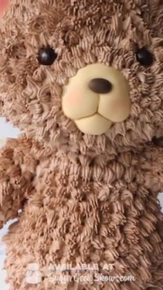 Lovely Teddy bear cake Video by .I heard it's National Teddy Bear Day! There's nothing like a huggable teddy bear friend when you're a kid!⁠ ⁠ But as an adult. I think I'd take a slice of this cake ?⁠ Lovely Teddy bear cake Video by . Cake Decorating Videos, Cake Decorating Supplies, Cake Decorating Techniques, Cookie Decorating, Cake Decorating Piping, Fancy Cakes, Cute Cakes, Teddy Bear Cakes, Baby Teddy Bear