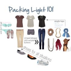 Packing Light #style #fashion #travel