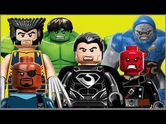 Lego Nick Fury Hulk Coringa Pinguim Caveira Vermelha General Zod Venom D...