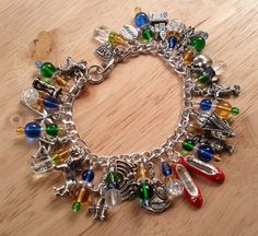 Off to See the Wizard Charm Bracelet by MistressJennie on Etsy, $65.00