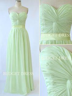 A-line Sweetheart Floor Length Chiffon Prom Dress by BudgetDress