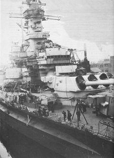 USS Alabama (BB-60) in Puget Sound Naval Shipyard