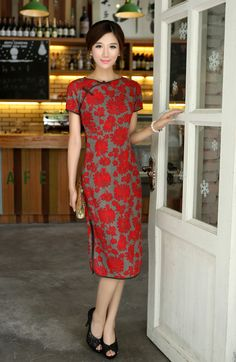 Classic Chinese Dress - Qipao Dress- Elegant Flower Lady $79.99 (60,26 €)