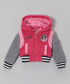 Look at this Dollhouse Magenta Fleece Hooded Jacket - Girls on #zulily today!