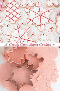 Candy Cane Sugar Cookies beautiful sugar cookies with amazing candy cane flavour! Christmas Goodies, Christmas Candy, Christmas Treats, Christmas Parties, Xmas, Sugar Cookie Icing, Chewy Sugar Cookies, Holiday Baking, Christmas Baking