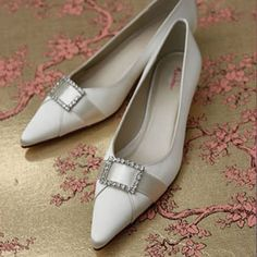 Willow Low Heel Wedding Shoes - Rainbow Club