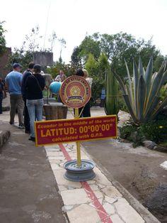 The real Equator, the one at 0°0′0″ Lat. - Quito, Ecuador. La Mitad del Mundo