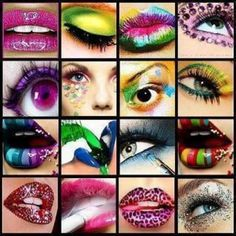 here are some more crazy looking makeup ideas