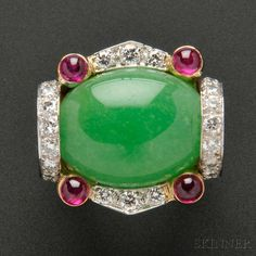 Jade and Diamond Ring, David Webb  