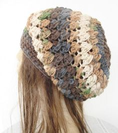 Crochet Hat - Slouch  Hat-  Crochet Beanie Hat  - Womens hat - chunky knit  Variageted yarn   Beanie  Winter Accessories  Autumn Fashion