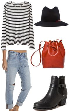 5 Fall Wardrobe Staples #style #fashion #stripes #mansurgavriel #bag