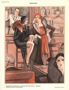 Illustration from 'Le Sourire', 1920s by J. Leclerc