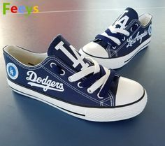 414406f840e Los Angeles Dodgers shoes Dodgers sneakers blue Baseball shoes gift Let s Go  Dodgers