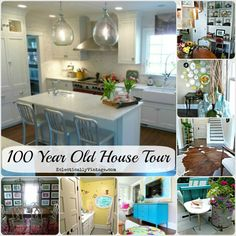 Old House Tours - 100 Year Old Home Renovated to Perfection (tons of DIY decorating ideas)! eclecticallyvintage.com