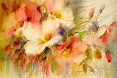 Wild Roses / Rosas Silvestres, original painting by artist Fabio Cembranelli | DailyPainters.com