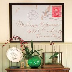 Legacy Art-copy and frame a letter  from your Grandparent...perfect for a home office~