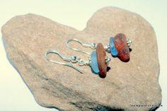 Sea Glass Beach Glass Earrings Lake Erie Cornflower Blue  by beachglassshop, $28.00 FREE Shipping