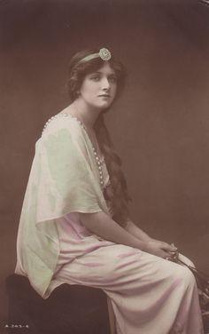 Beautiful Alice Cooper in Long Dress Pearls Original British Postcard | eBay