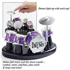 Finger Drum Sets - Rocking Out Gone Micro With the Tabletop Electric Drums