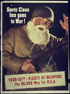 WWII. The War Production Board was charged to encouraging people to work. They would threaten, cajole, guilt, or resort to arming Santa Claus to ensure war production stayed top priority.