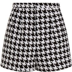 Emma Cook Houndstooth High Waisted Shorts
