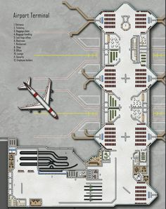 Airport Terminal; shadowrun, floorplan