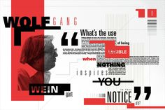 Two posters that represent Wolfgang Weingart's New Wave design aesthetics. Page Layout Design, Web Design, Magazine Layout Design, Book Layout, Print Design, Editorial Layout, Editorial Design, Typography Poster, Graphic Design Typography
