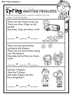 Spring Addition Math And Literacy No Prep