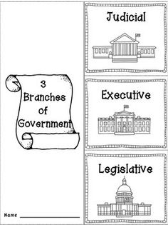 Branches of Government | Flip books, Flipping and Students