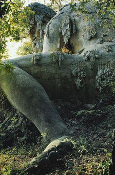 The Apennine Colossus by Giambologna. Located in Villa di Pratolino in Tuscany, Italy.