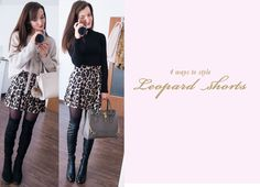 4 ways to style leopard shorts for winter. Leopard shorts by Zara. The Fashion Rose http://www.thefashionrose.com/2017/01/4-ways-to-style-leopard-shorts-for-winter.html