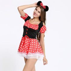 Sexy Costumes role play Sexy Christmas Halloween Minnie Mouse Women Xm – Save Major