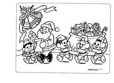 Pedagógiccos: Desenhos de Natal com a Turma da Mônica - parte 2