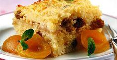 Rýžový nákyp s meruňkami. Food Art For Kids, Eat Smarter, Cornbread, Baked Potato, Pudding, Chicken, Meat, Breakfast, Ethnic Recipes
