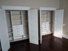 Doctor Wood Inc.- Utilizing space in a space closet!! LOVE