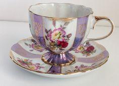 Gorgeous Royal Halsey teacup and saucer. by JoyJoeTreasures, $28.90