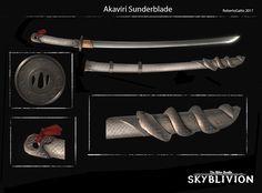 Skyblivion - Akaviri Sunderblade, Roberto Gatto on ArtStation at https://www.artstation.com/artwork/ZW5rN