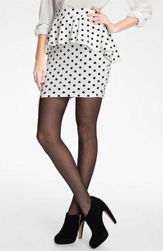 Peplum Skirt (Juniors) available at We Wear, How To Wear, Polka Dot Print, Polka Dots, Stripes Fashion, Classy And Fabulous, Dress Skirt, High Waisted Skirt, Peplum