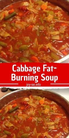 The Cabbage Soup Diet is a rapid weight loss diet. Its proponents claim that seven days on the diet can lead to weight loss of up to 10 pounds kg). The diet works exactly as Read more. Cabbage Fat Burning Soup, Cabbage Soup Diet, Cabbage Soup Recipes, Diet Soup Recipes, Cooking Recipes, Healthy Recipes, Weight Watchers Cabbage Soup Recipe, Veggie Soup Recipe, 5 Can Soup Recipe