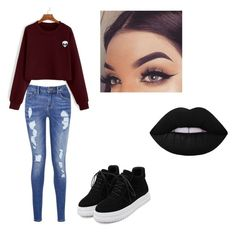 """""""Pretty casual👽"""" by prettylittlelizzy on Polyvore featuring Tommy Hilfiger and WithChic"""