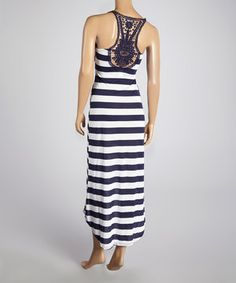 67568989bb Another great find on  zulily! Navy  amp  White Stripe Racerback Maxi Dress  by