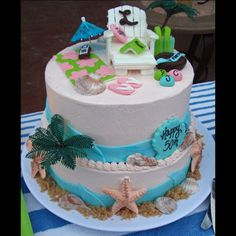 I want to get good enought to do this beach cake one day.