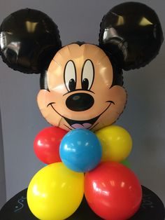 Mickey or Minnie Mouse Buffet Column kit includes balloons, instructions, and link to how to video tutorial. Mickey Mouse Theme Party, Mickey Mouse Birthday Decorations, Mickey Mouse Clubhouse Birthday Party, Mickey Mouse 1st Birthday, Mickey Minnie Centerpieces, Minnie Mouse Balloons, Video Link, Table, Crafts