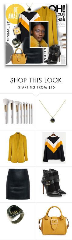 """""""Be amazing"""" by giampourasjewel ❤ liked on Polyvore featuring Terre Mère, Anja, Topshop, McQ by Alexander McQueen, Balmain, Burberry and Chanel"""