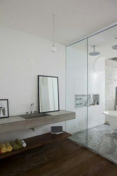 Concrete lavatory